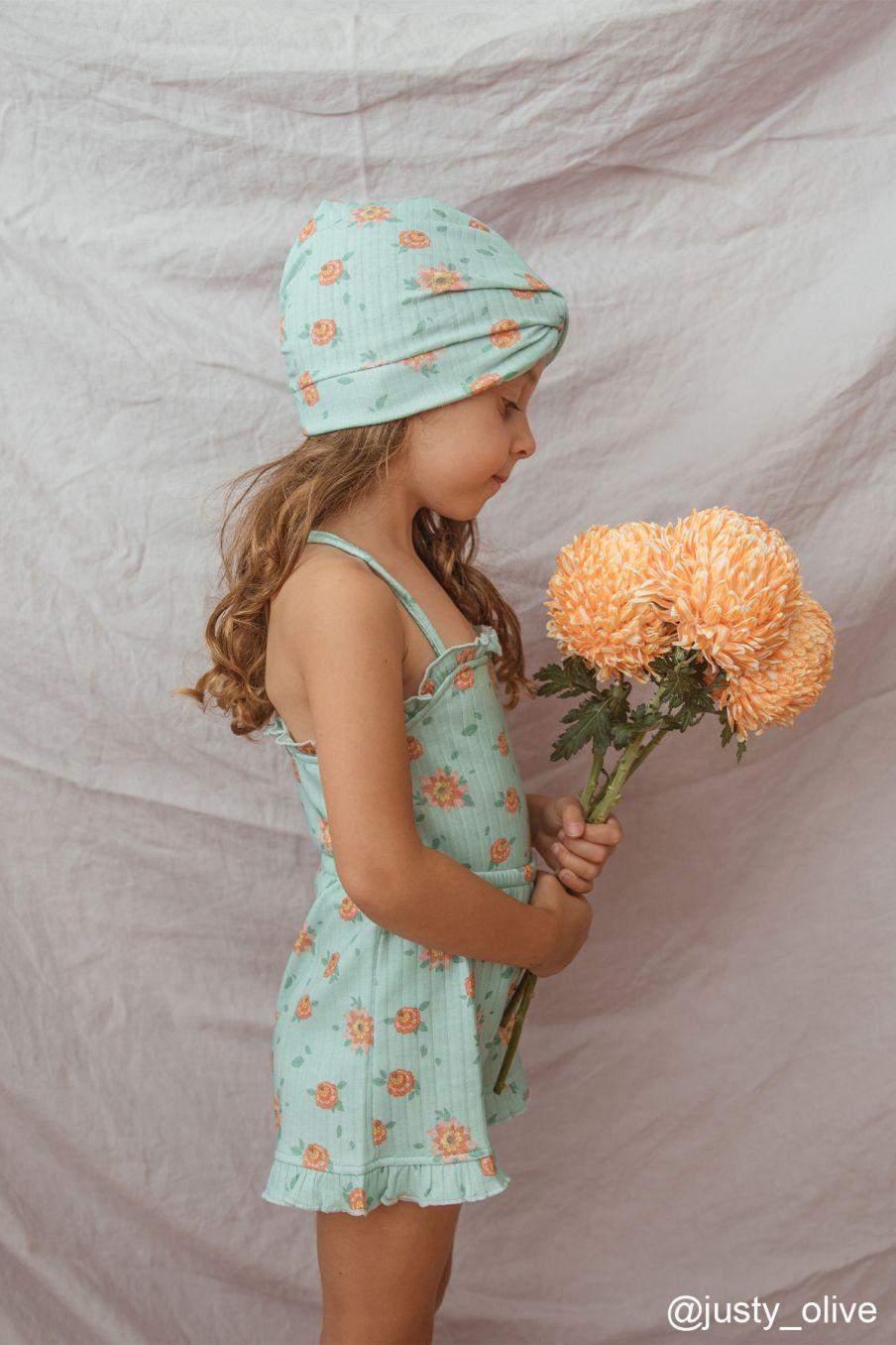 boheme chic vintage débardeur fille alasha vintage blue flowers