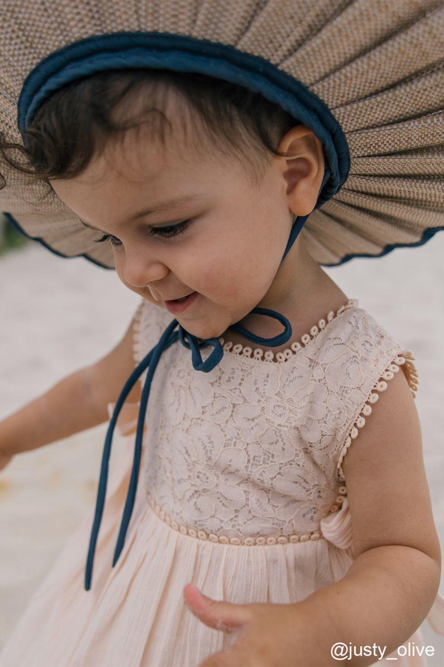 boheme chic vintage robe bébé fille paolina blush