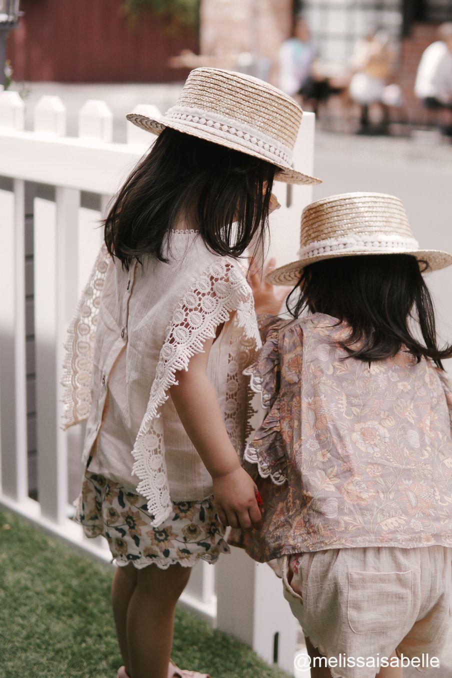 boheme chic vintage blouse fille adolio ecru