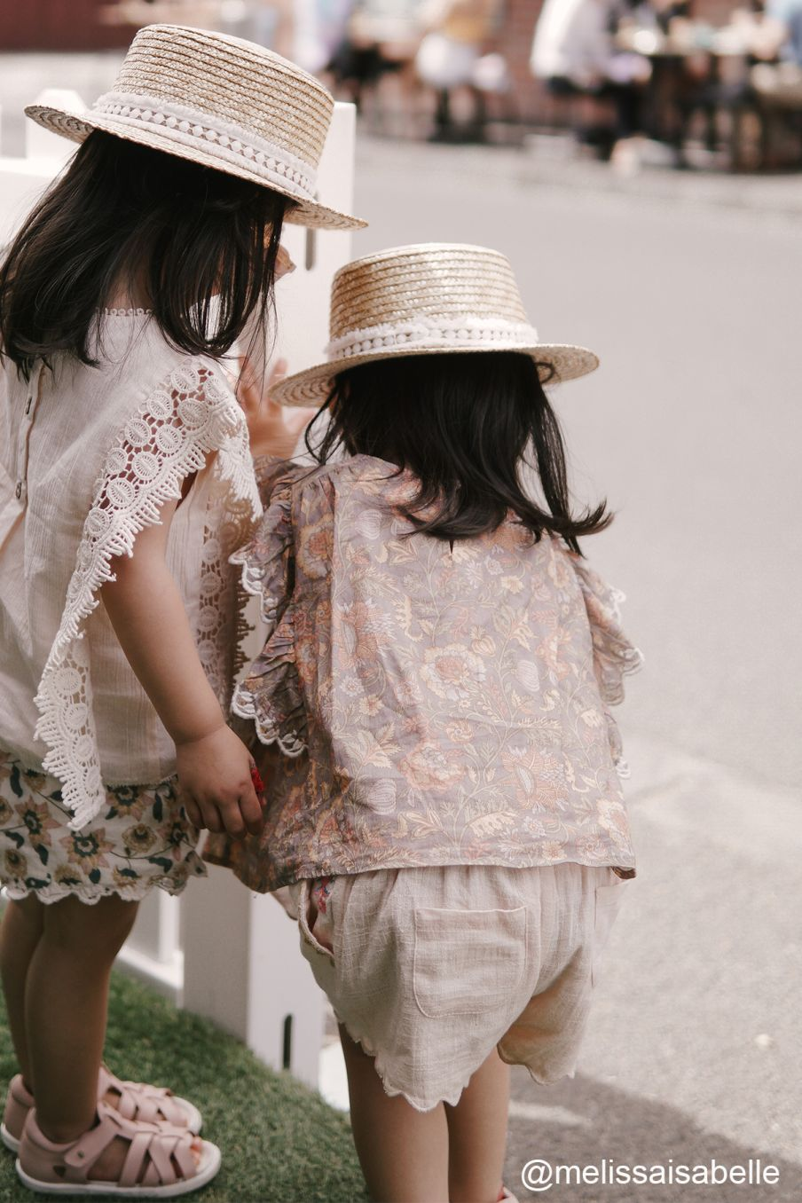 boheme chic vintage blouse bébé fille serena grey california flowers