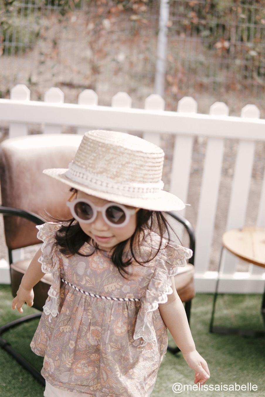 boheme chic vintage blouse fille serena grey california flowers