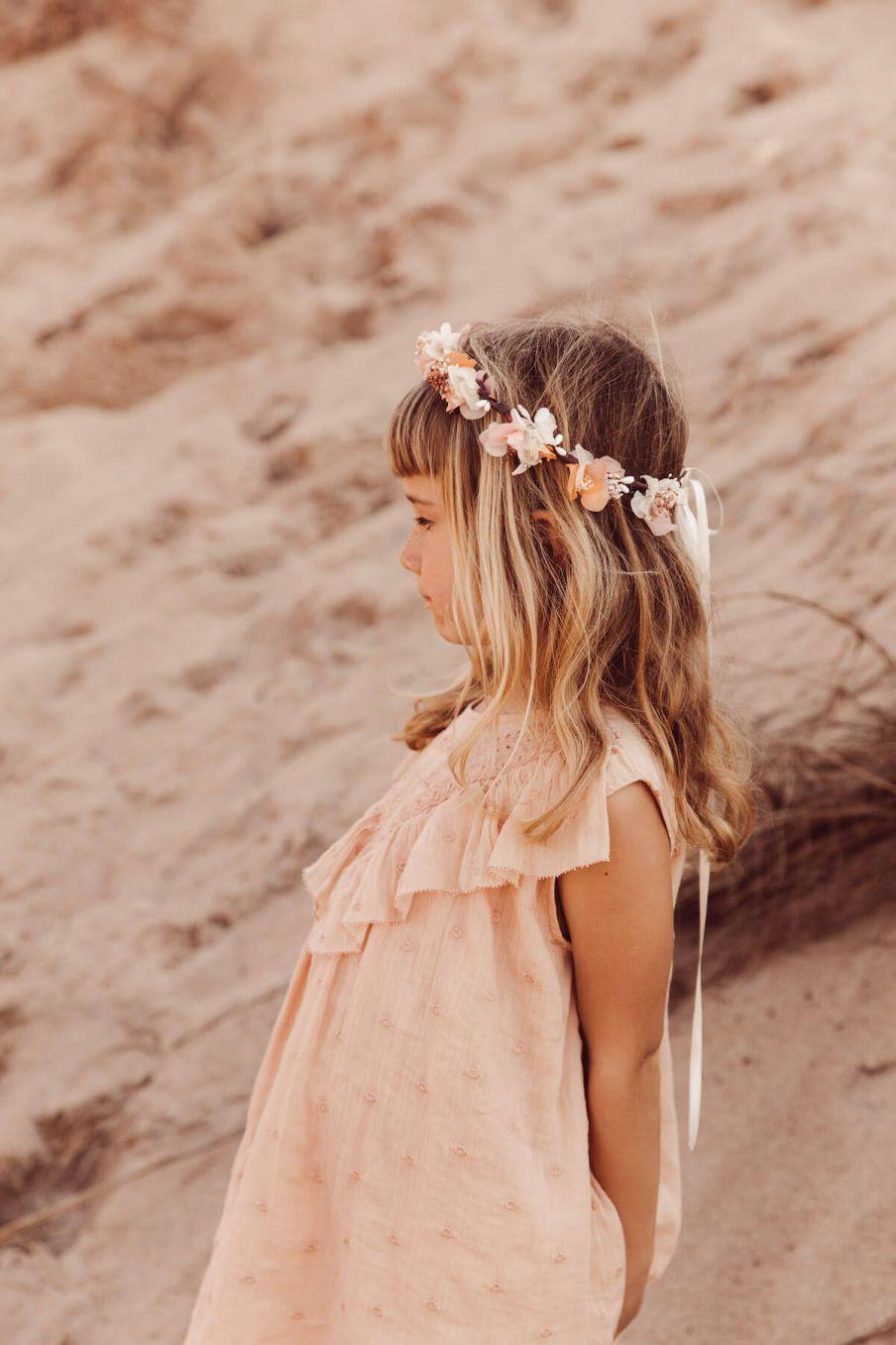 boheme chic vintage couronne fille rosa rose
