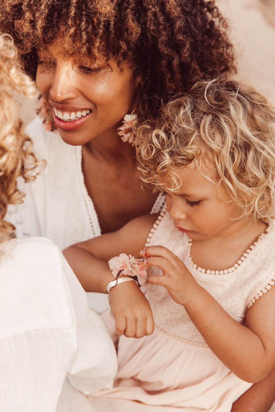 boheme chic vintage bracelet fille rosa rose