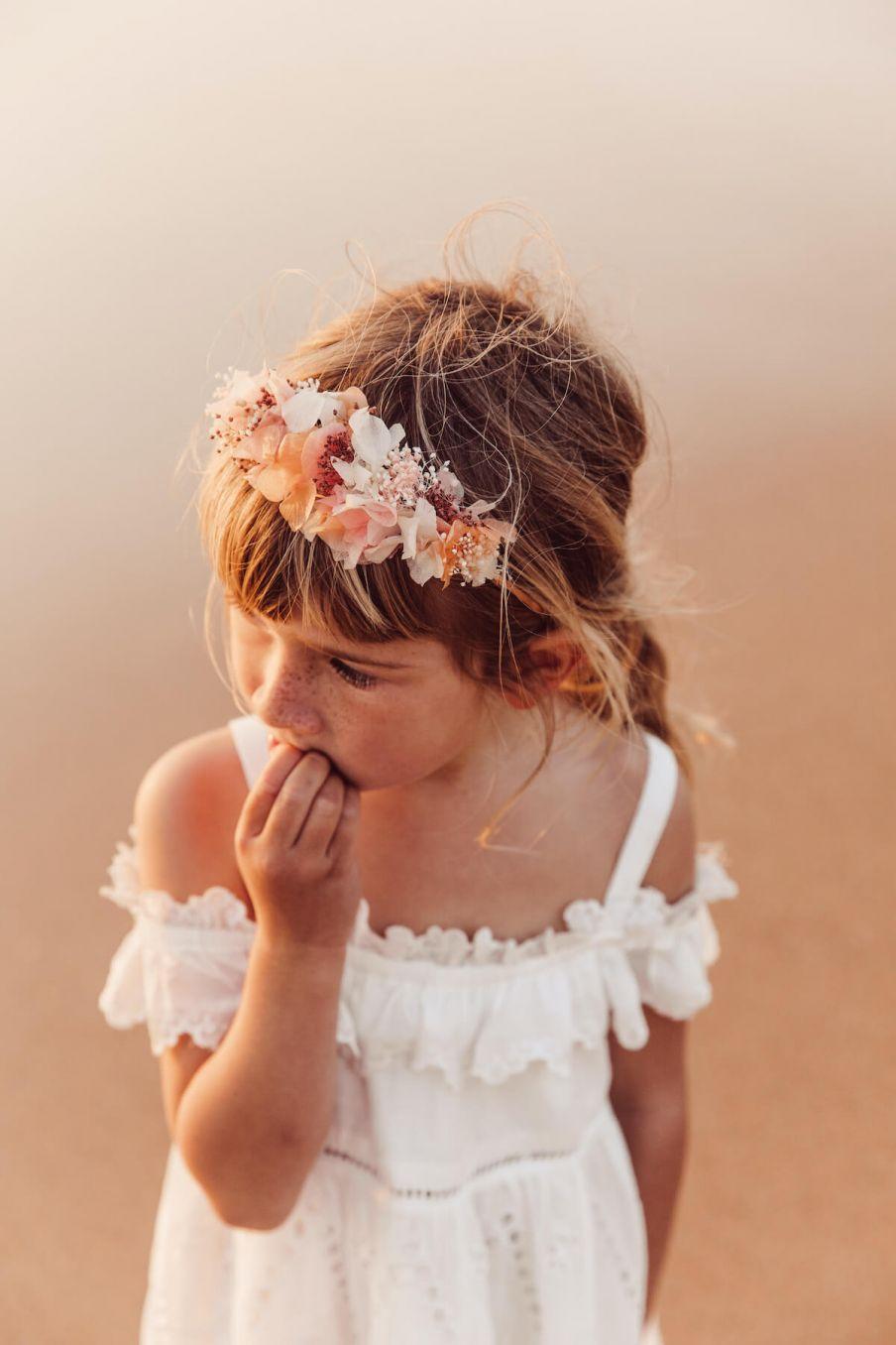 boheme chic vintage diadème fille izia rose