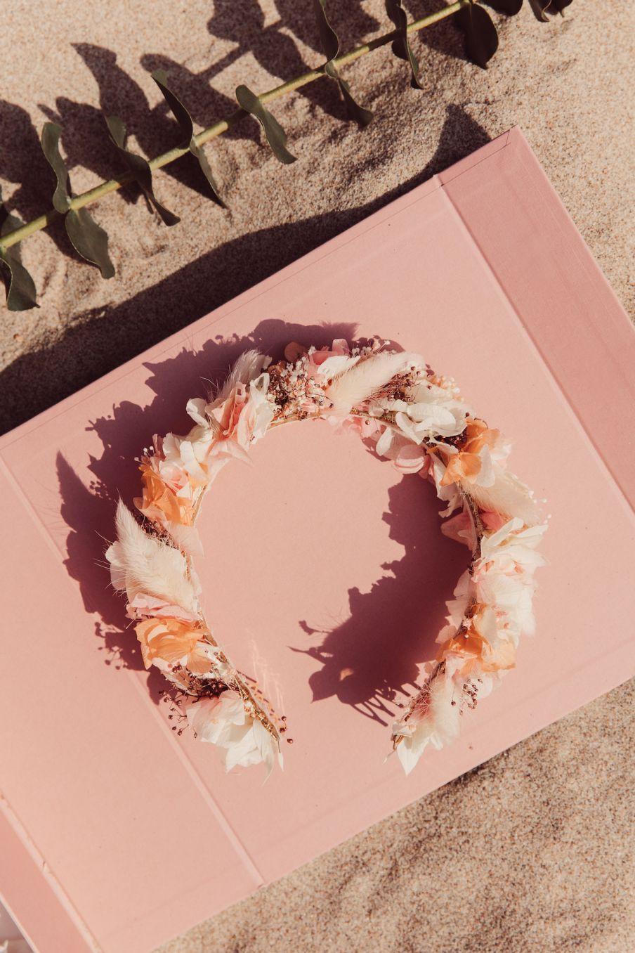 boheme chic vintage couronne femme clementine rose