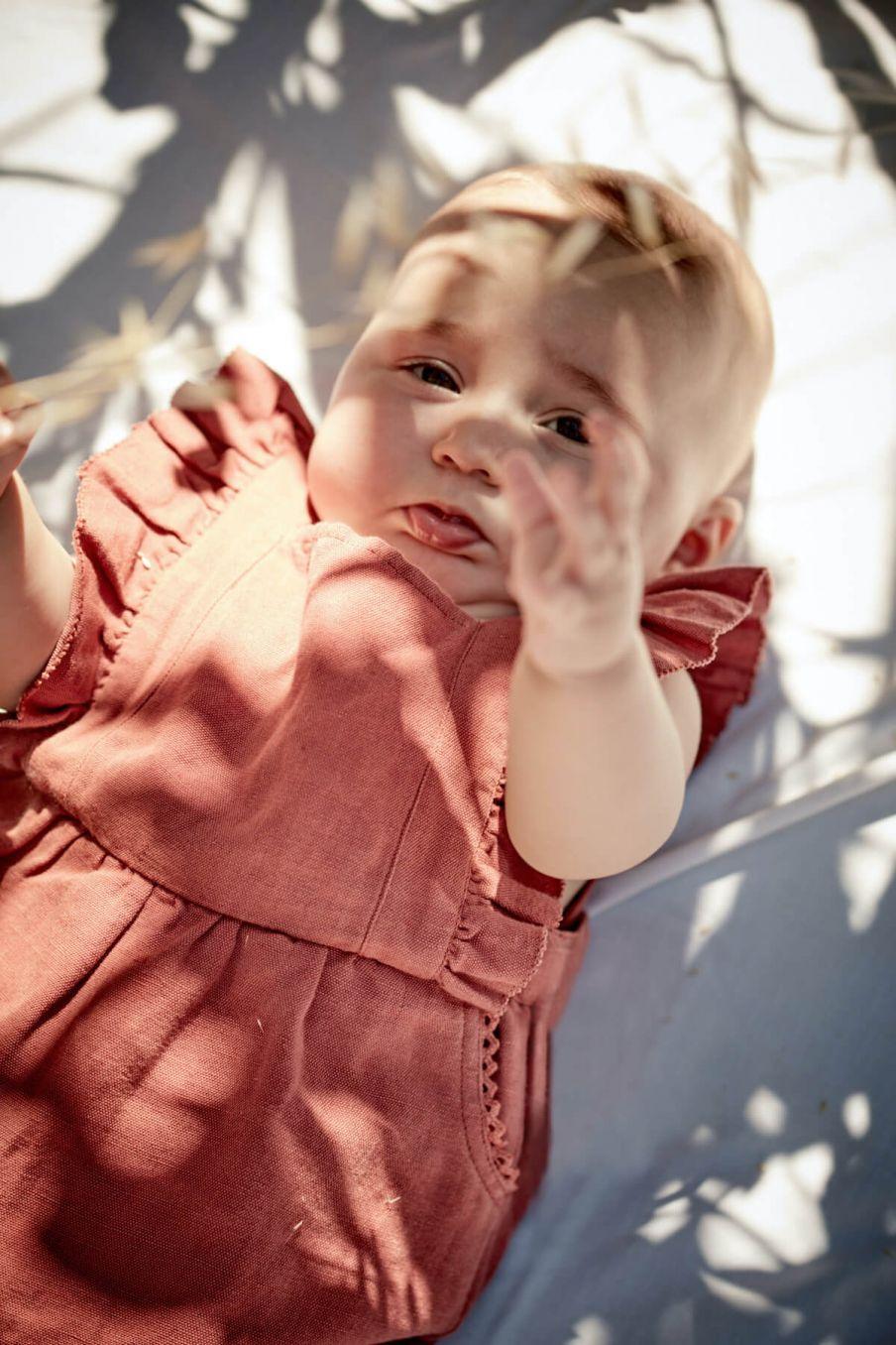 boheme chic vintage salopette bébé fille amishi terracota