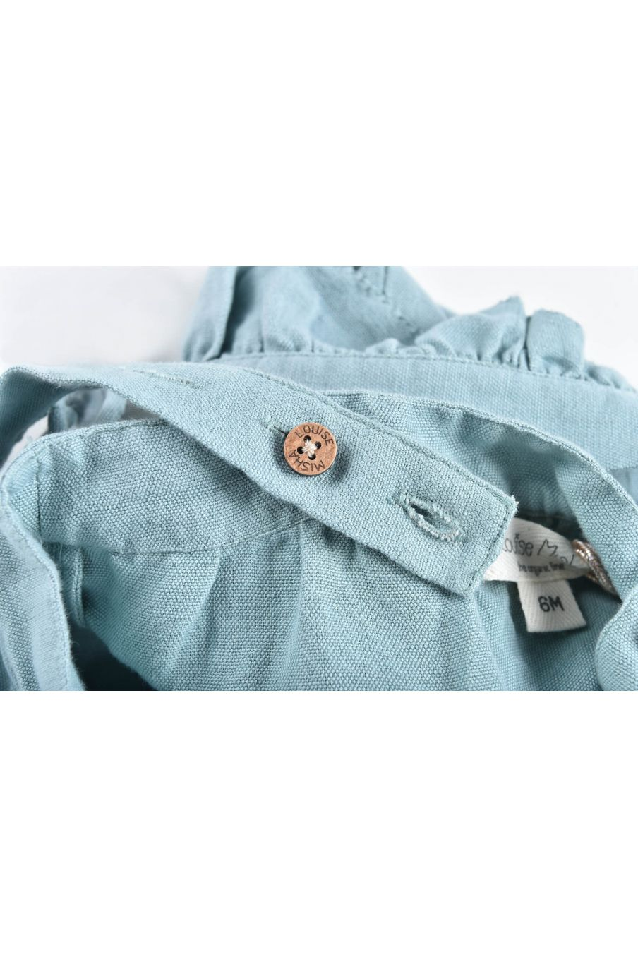 boheme chic vintage salopette bébé fille amishi vintage blue
