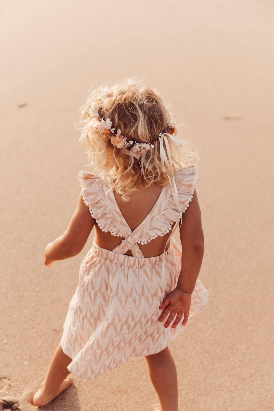 boheme chic vintage robe bébé fille asili blush psyche lurex