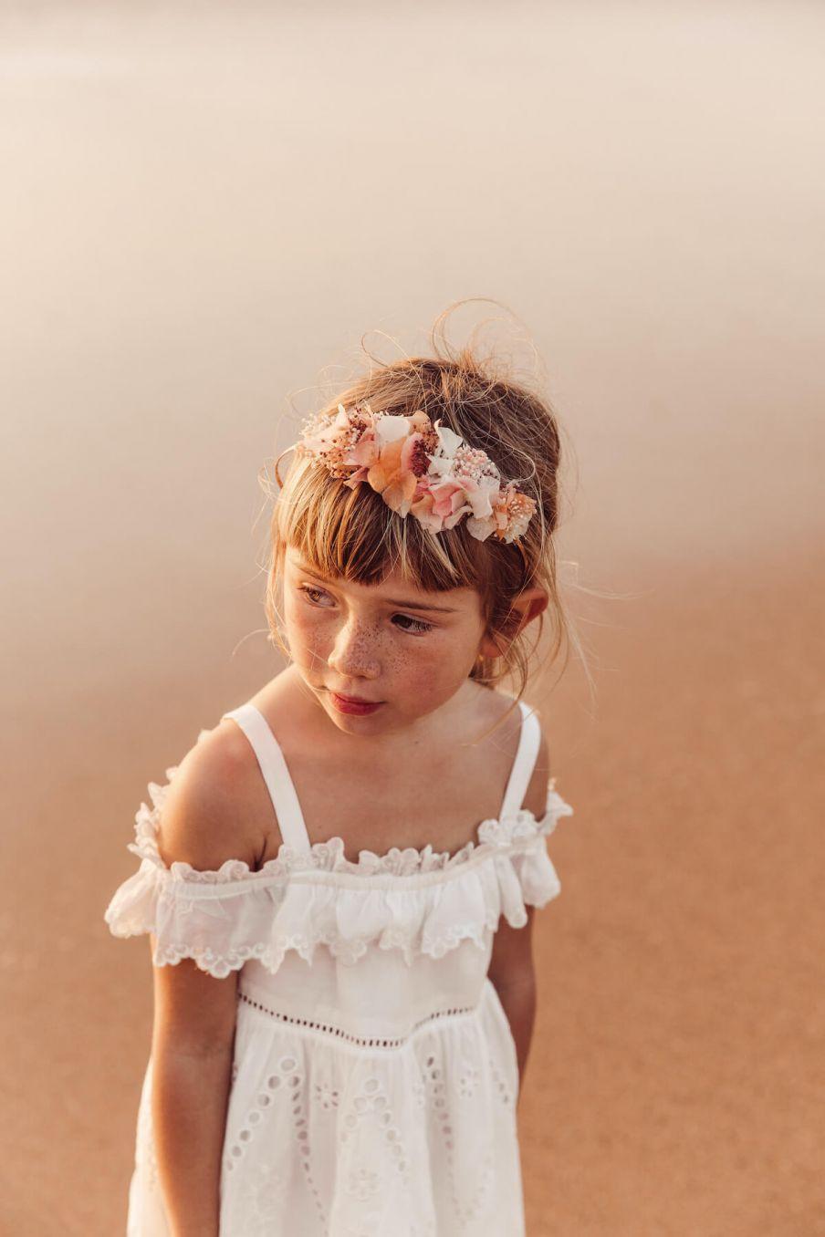 boheme chic vintage robe bébé fille thylana ecru
