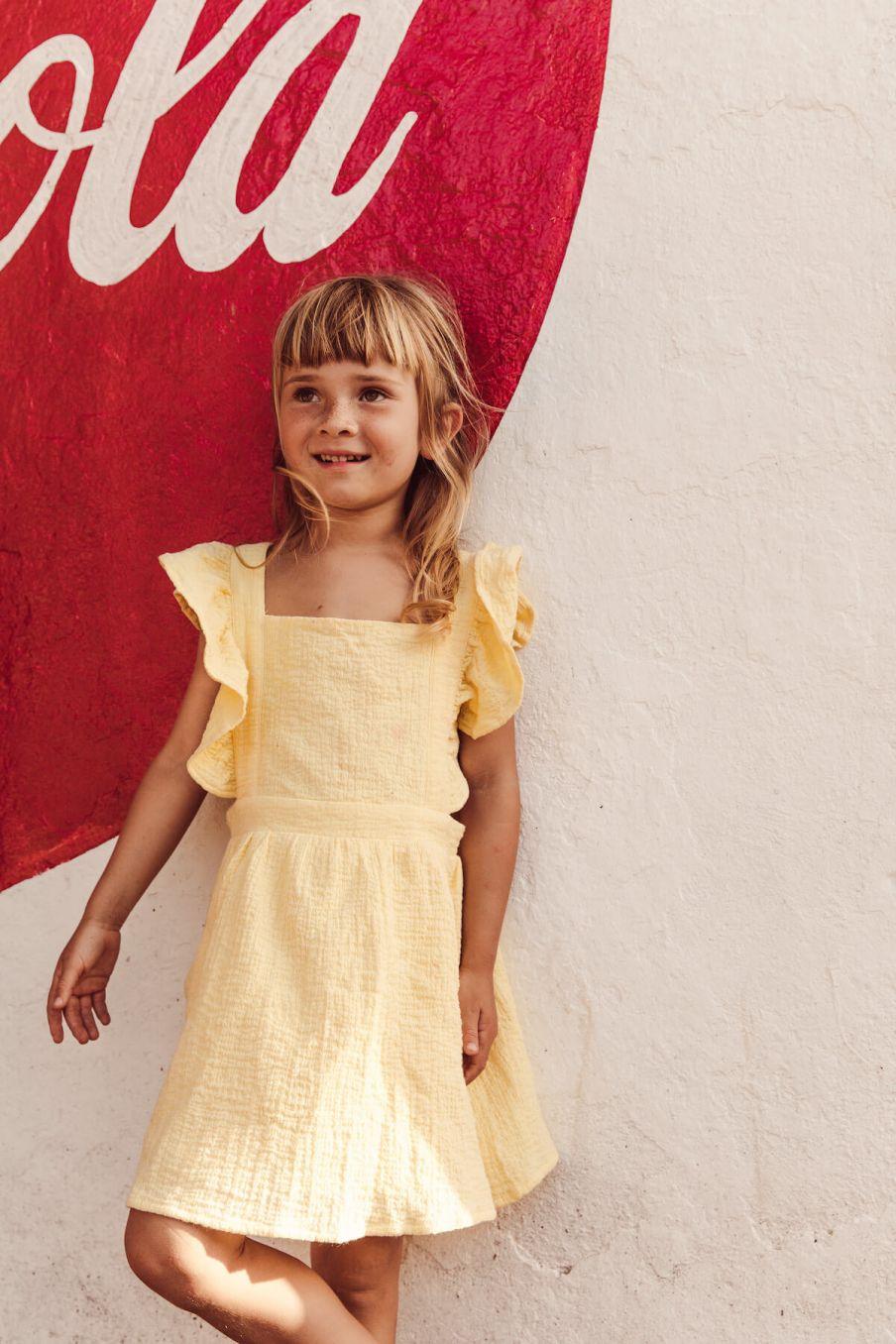 boheme chic vintage robe fille varadero jaune