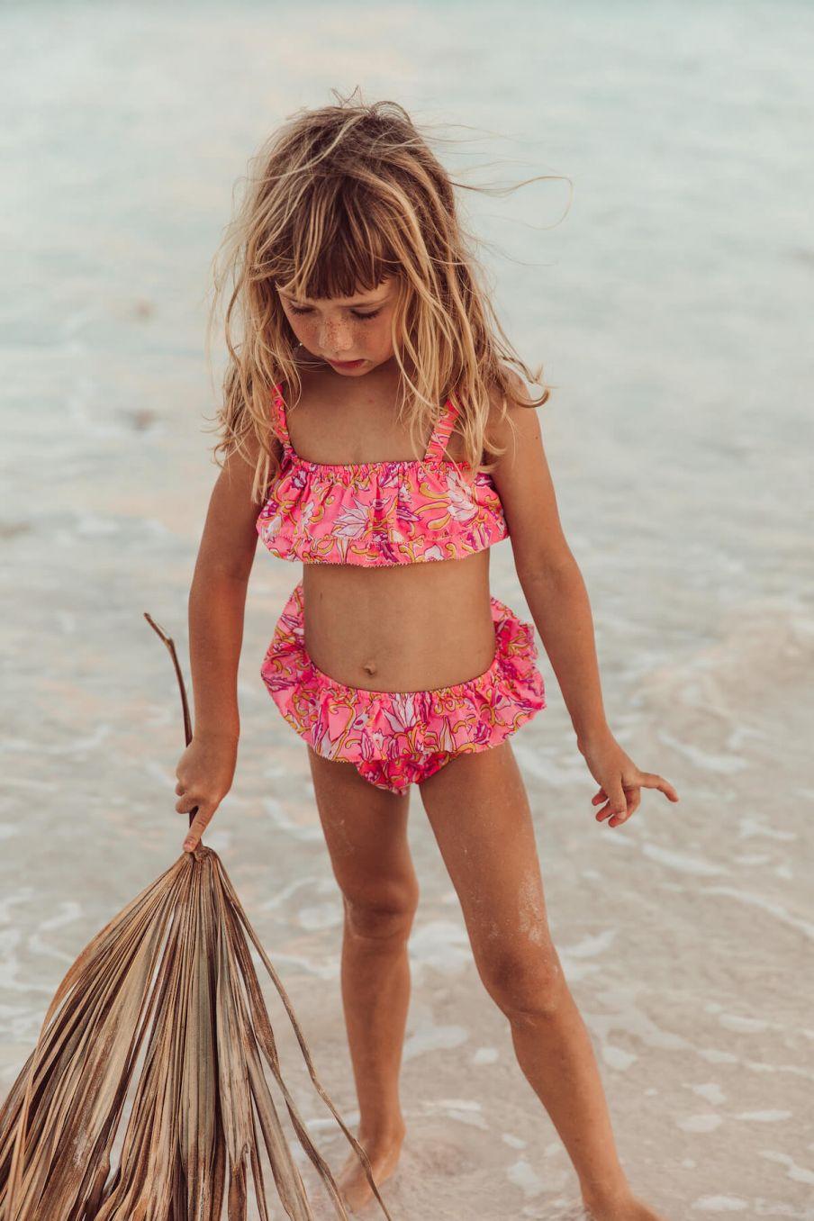 boheme chic vintage bikini fille carribean fluo print