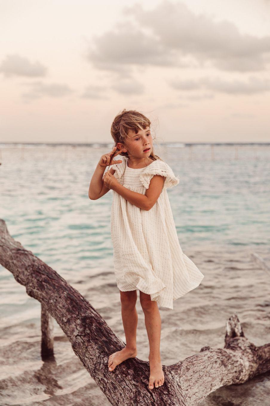 boheme chic vintage robe fille aruba white glitter