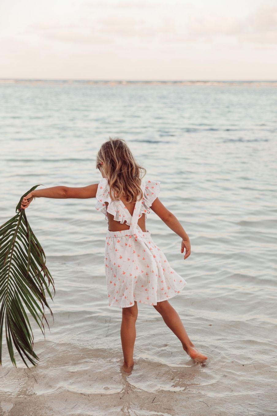 boheme chic vintage robe bébé fille varadero hawai fabric