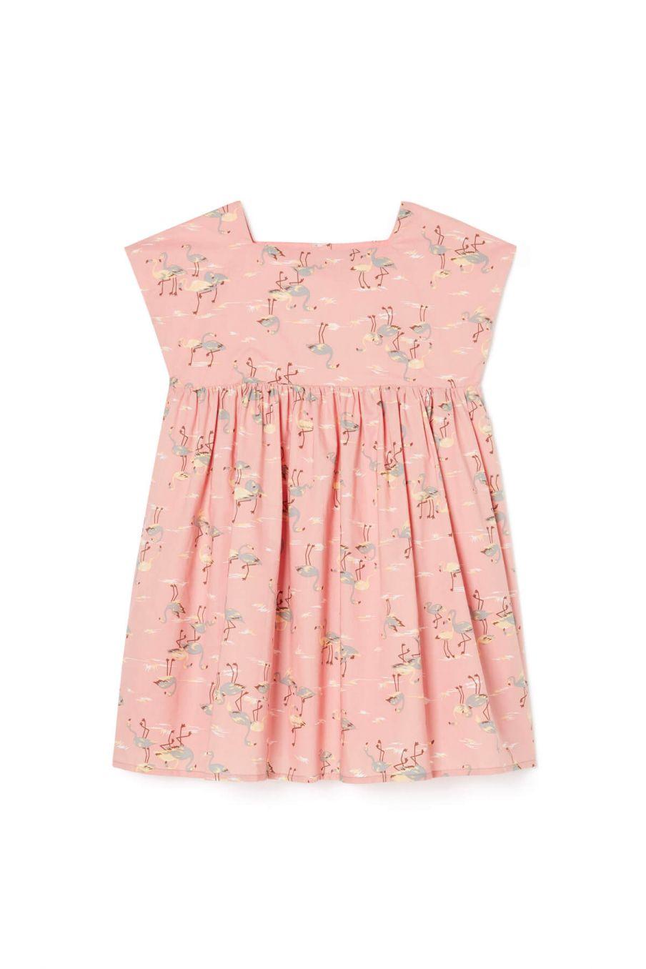 boheme chic vintage robe fille tapalpa flamingo