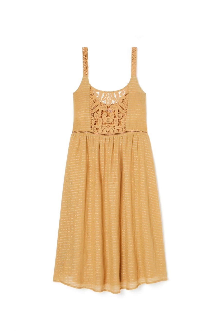 boheme chic vintage robe femme tulum lurex tomette
