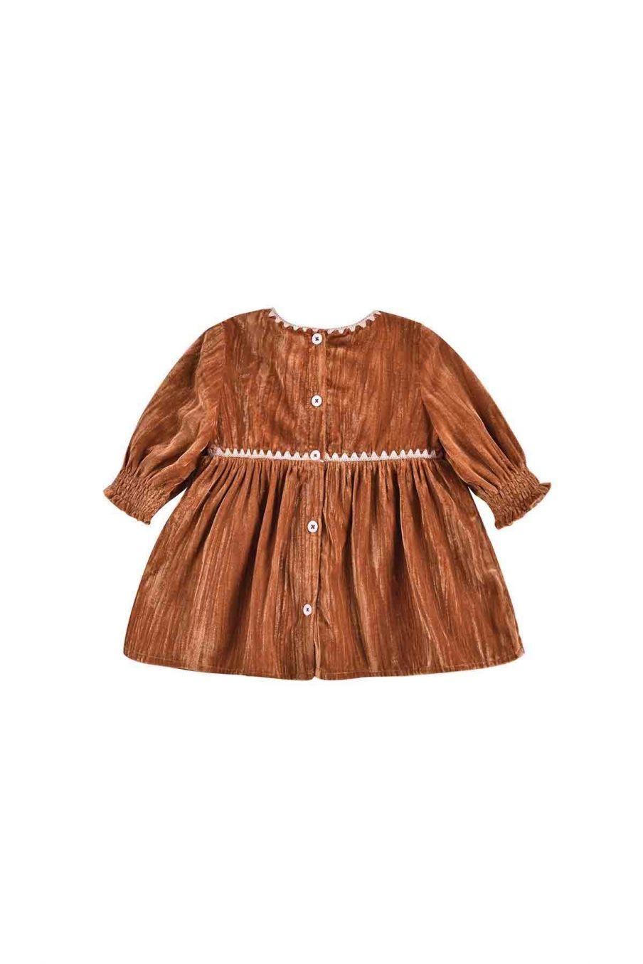 robe bebe fille josette caramel - louise misha