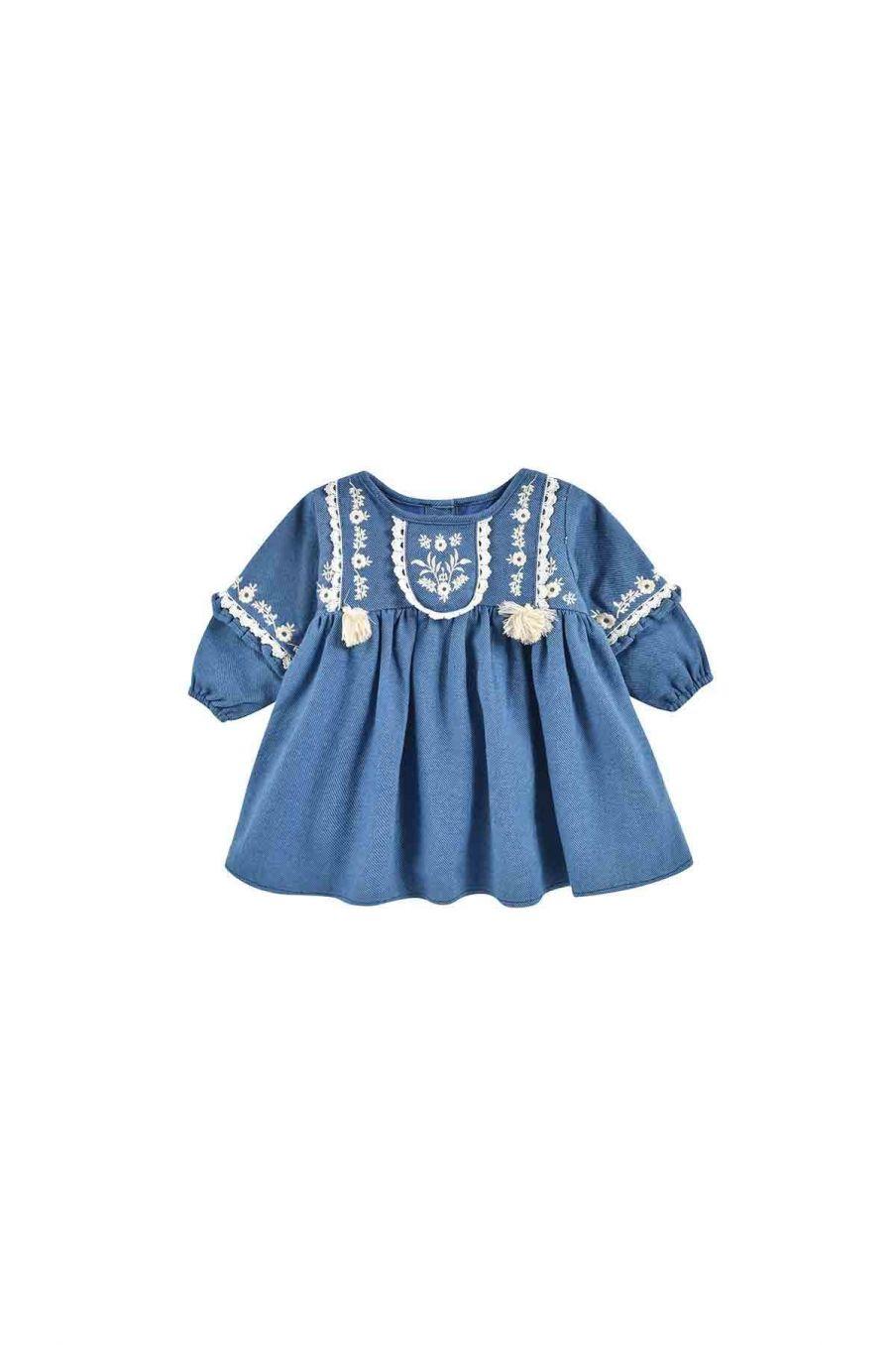 robe bebe fille fajald blue denim - louise misha