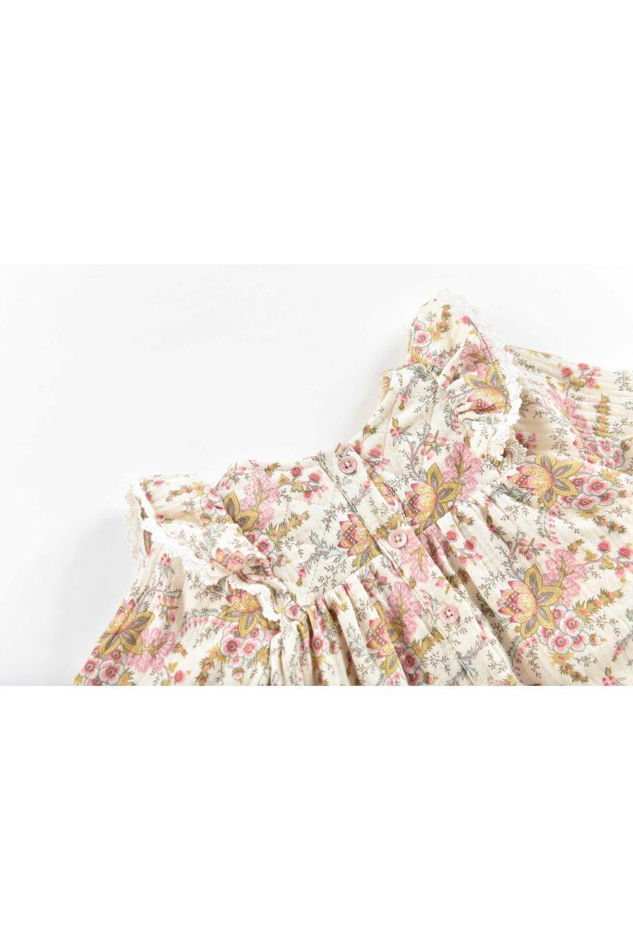 robe bebe fille lara cream french flowers - louise misha