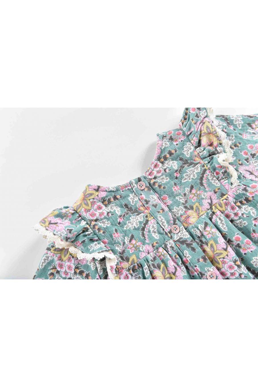 robe bebe fille lara blue french flowers - louise misha