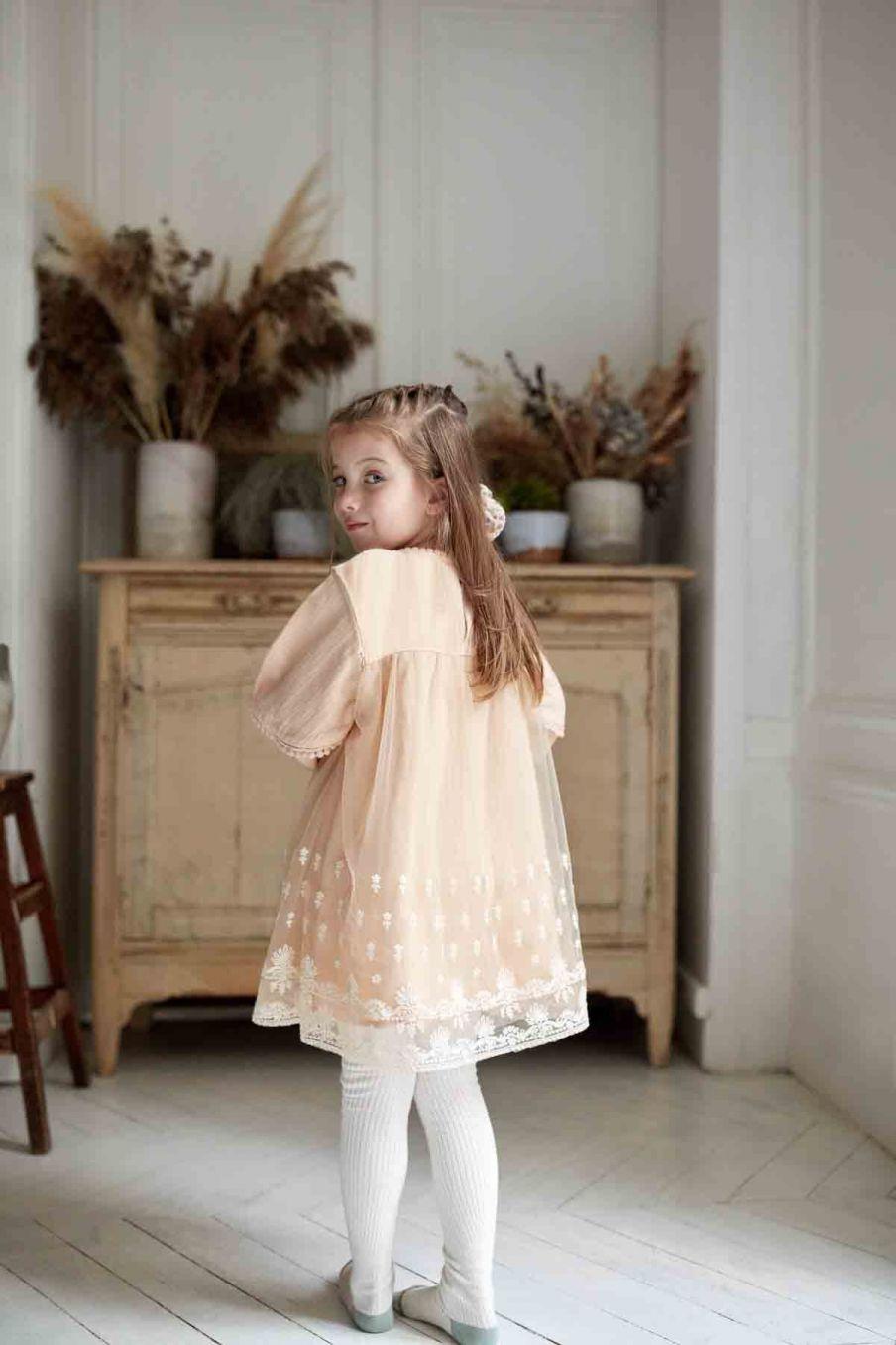 robe bebe fille christa blush - louise misha