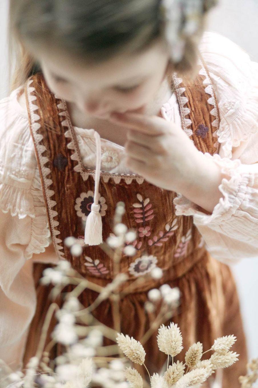 robe bebe fille ginette caramel - louise misha