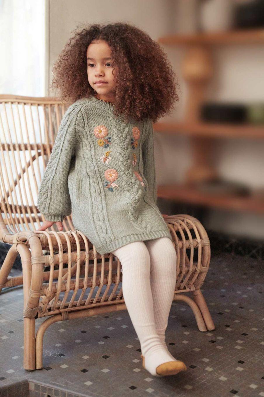 robe bebe fille rejana sauge - louise misha