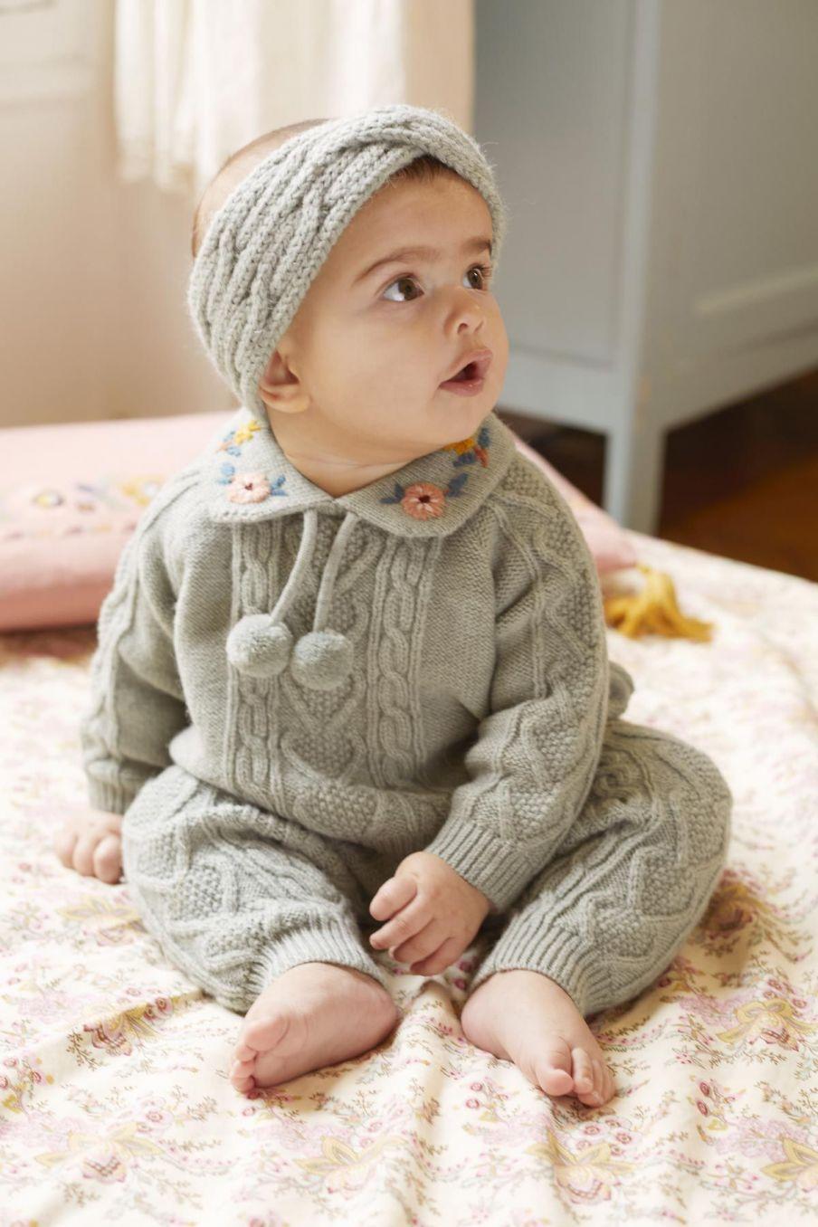 pull bebe fille solange sauge - louise misha