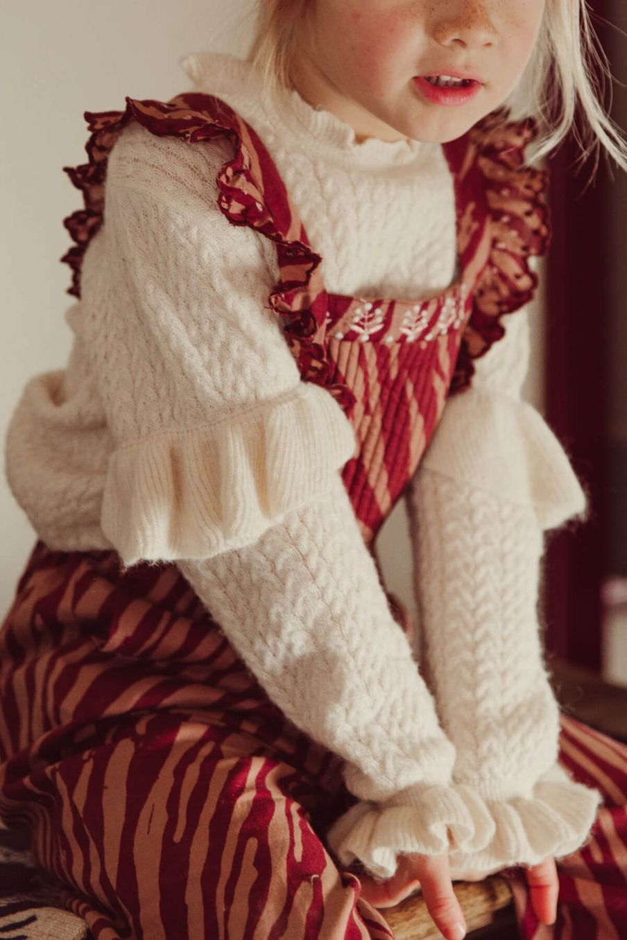 pull bebe fille jevo cream - louise misha