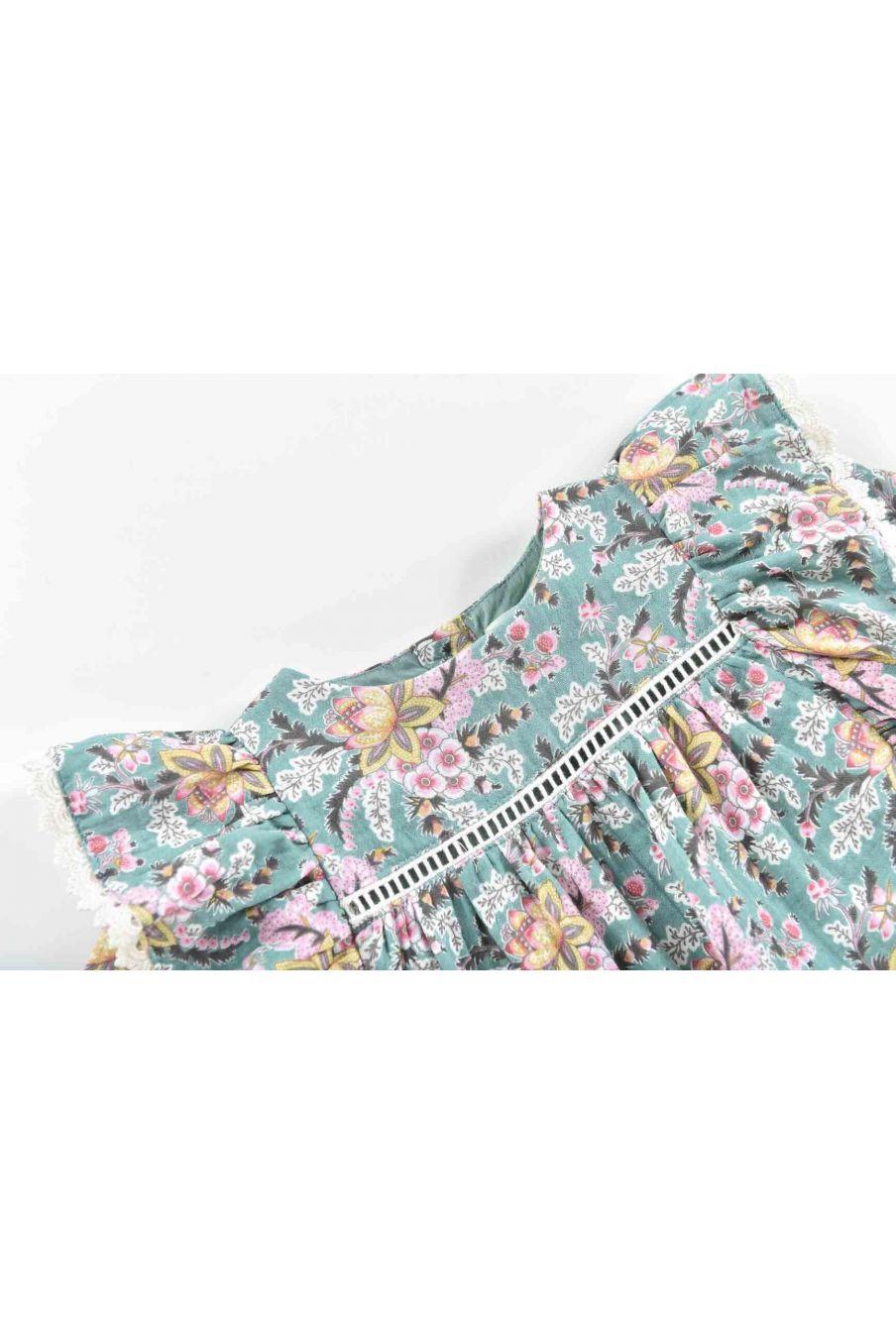 blouse bebe fille celia blue french flowers - louise misha