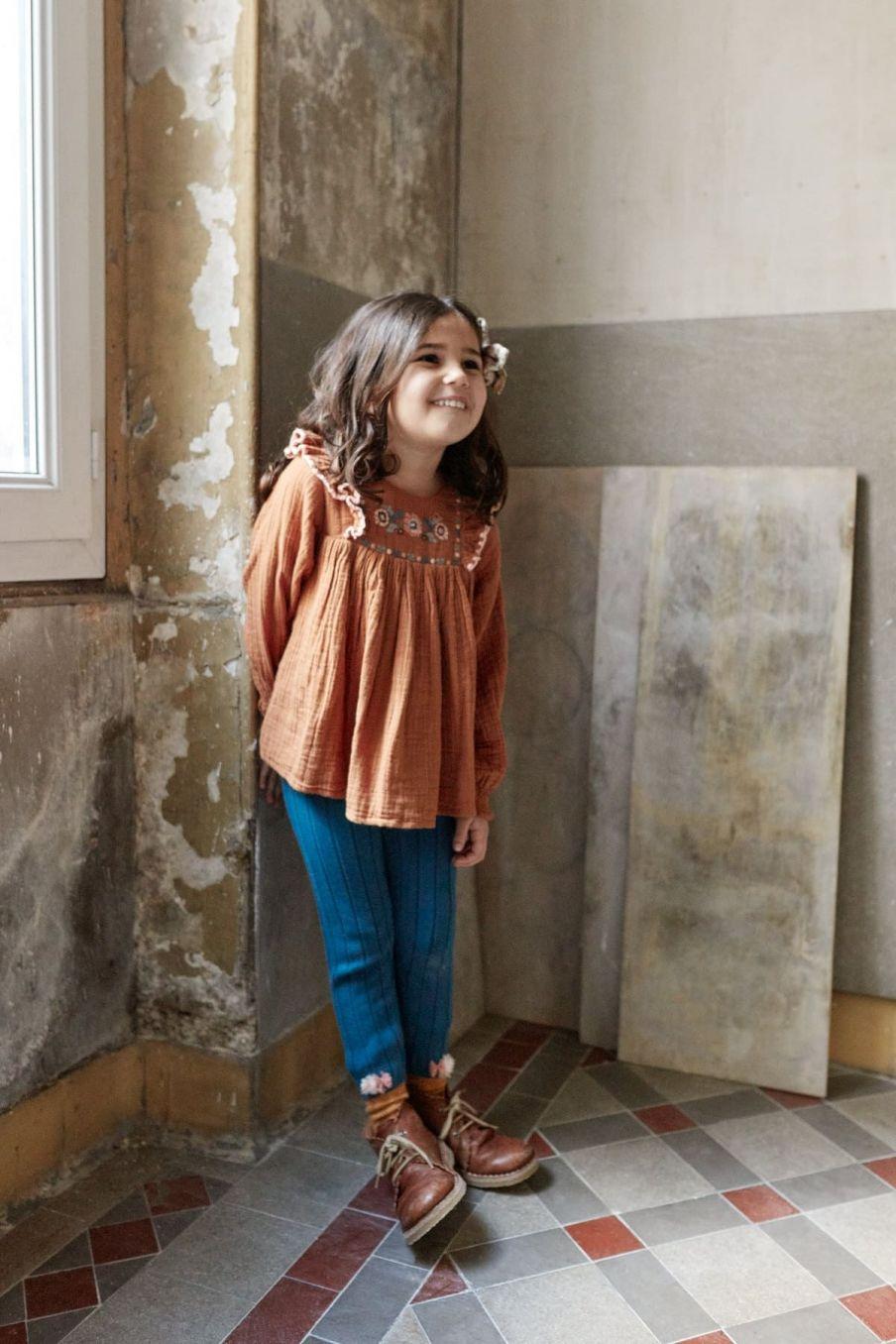 leggings bebe fille moldavia blue - louise misha