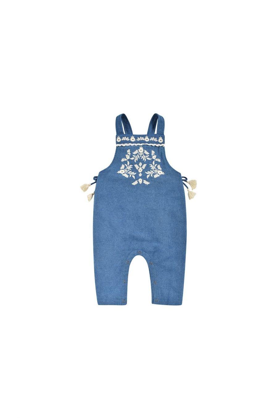 salopette bebe fille pakita blue denim - louise misha