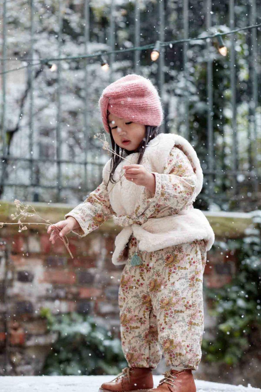 combinaison bebe fille jenna cream french flowers - louise misha
