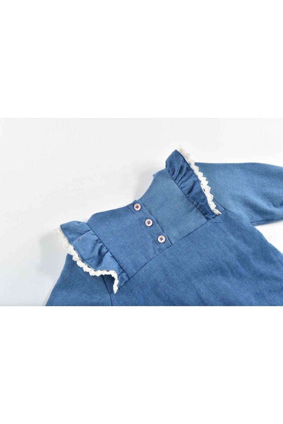 combinaison bebe fille fideo blue denim - louise misha