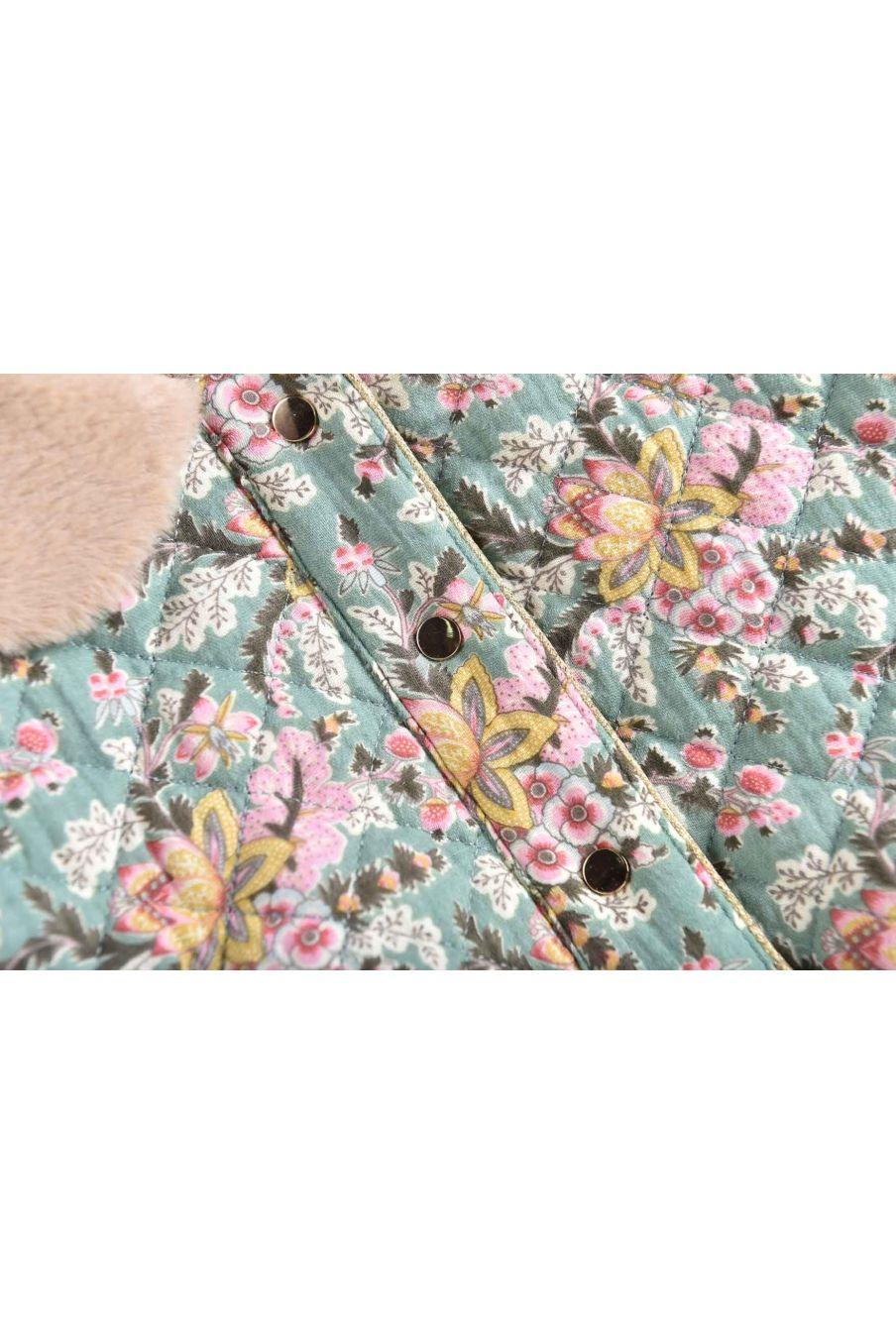 veste bebe fille jasmina blue french flowers - louise misha