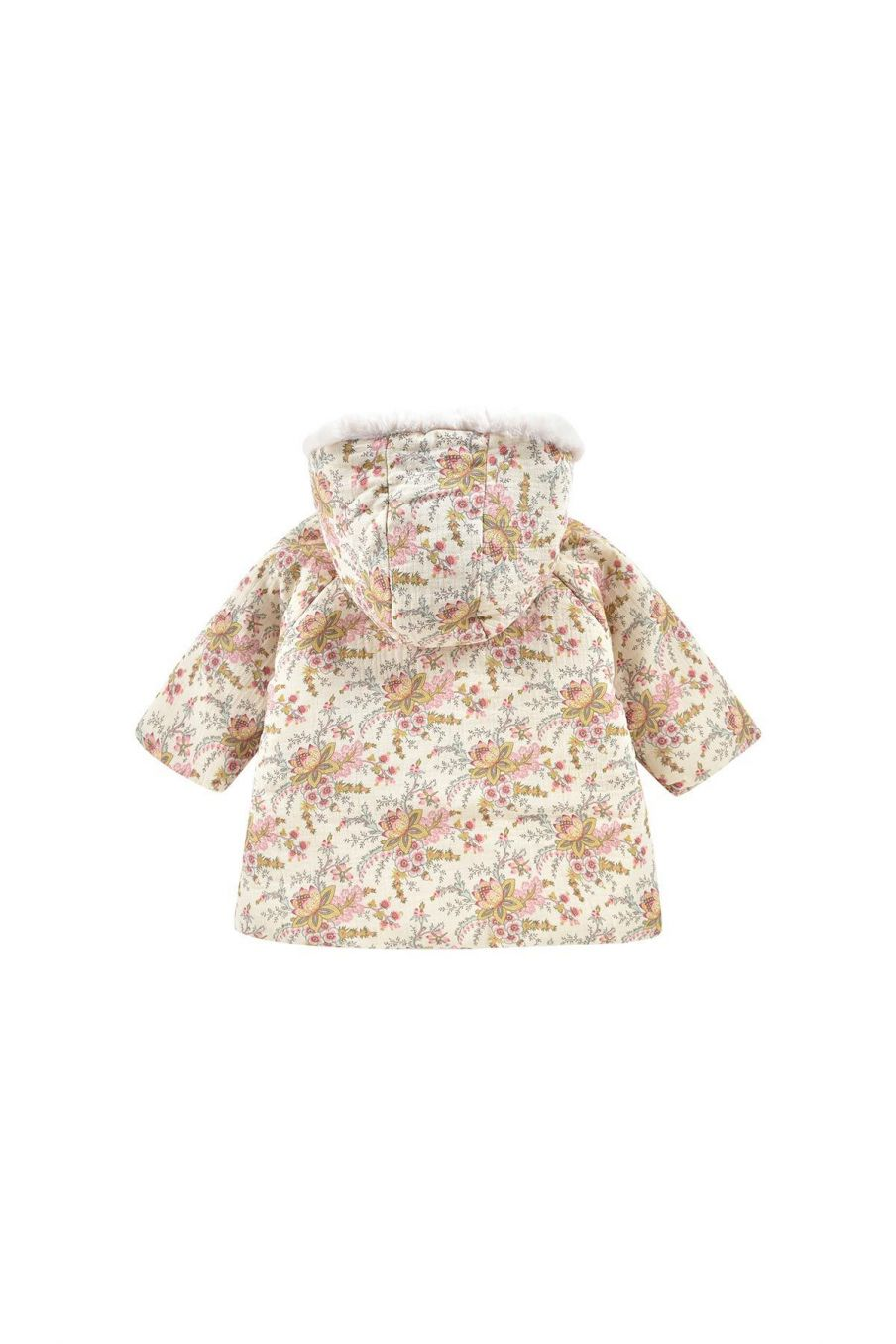 manteau bebe fille bacani cream french flowers - louise misha