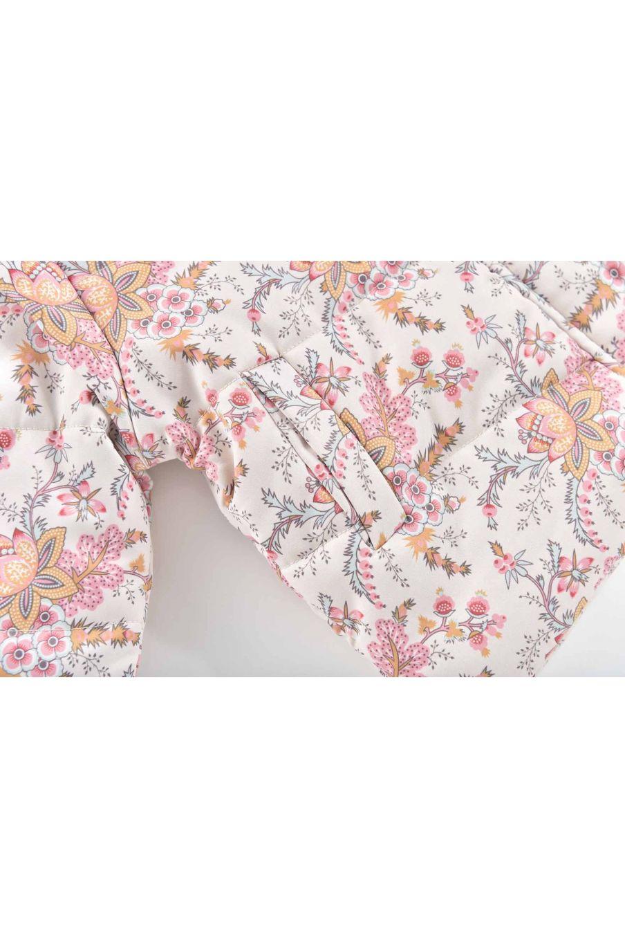 doudoune bebe fille edalise cream french flowers - louise misha