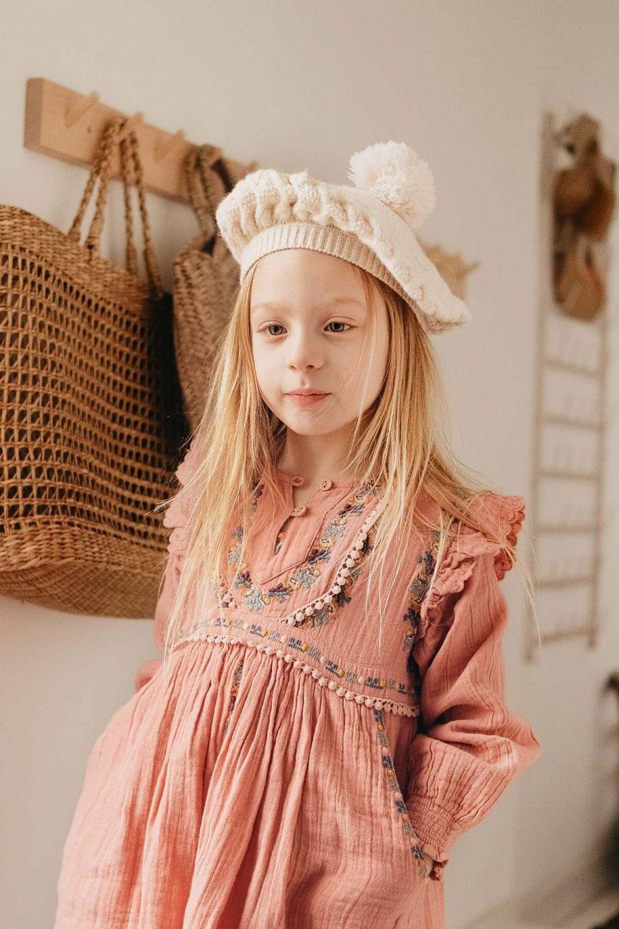 bonnet fille ophelia cream - louise misha