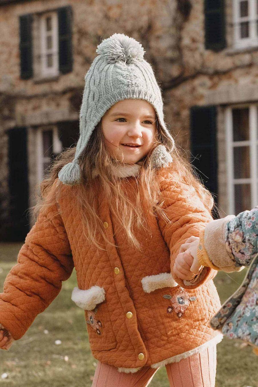 bonnet fille isoline sauge - louise misha