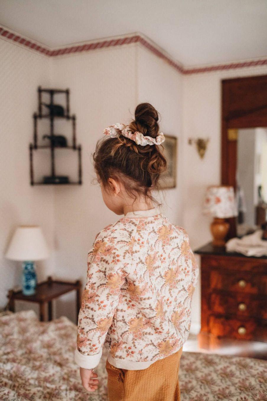 chouchou fille chloe cream french flowers - louise misha
