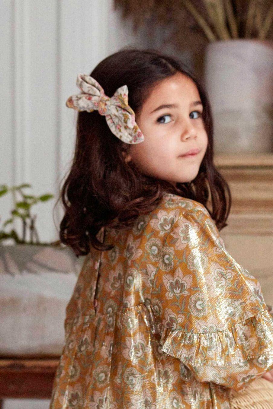 barrette fille lisa cream french flowers - louise misha