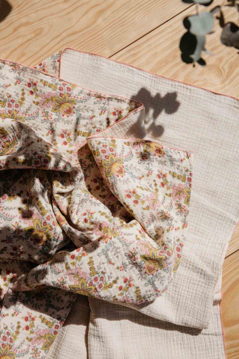 bébé lange bebe fille angel cream french flowers - louise misha