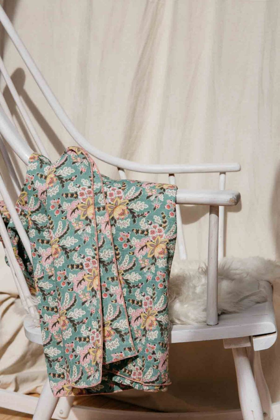 couverture bébé bebe fille nagel blue french flowers - louise misha