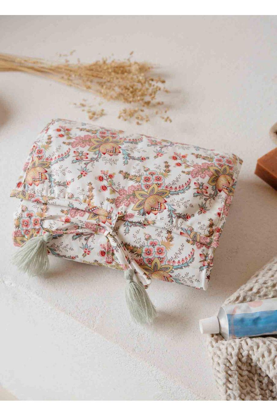 matelas à langer bebe fille olayde cream french flowers - louise misha
