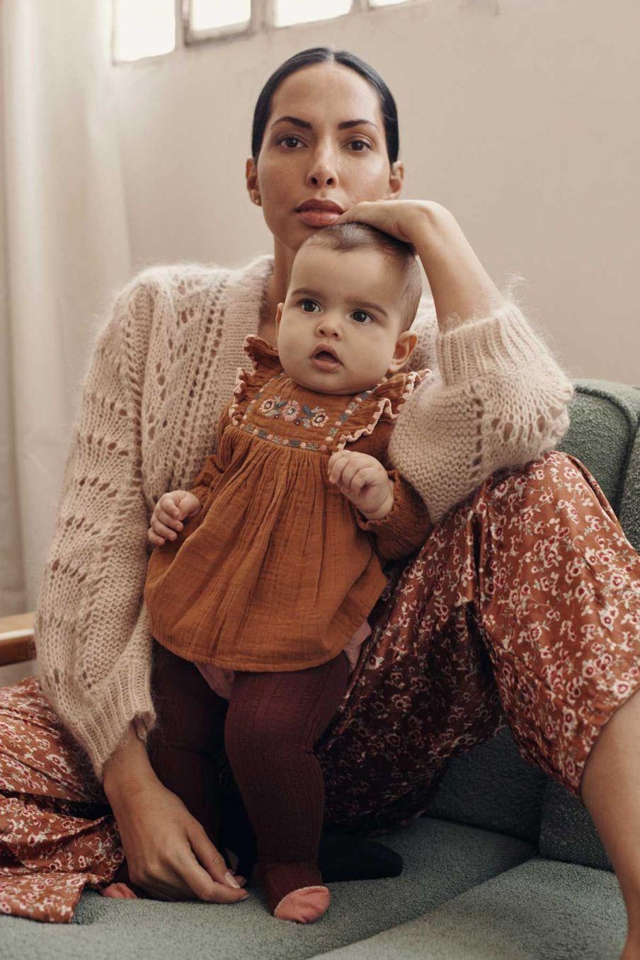 collants bebe fille chukata burgundy - louise misha
