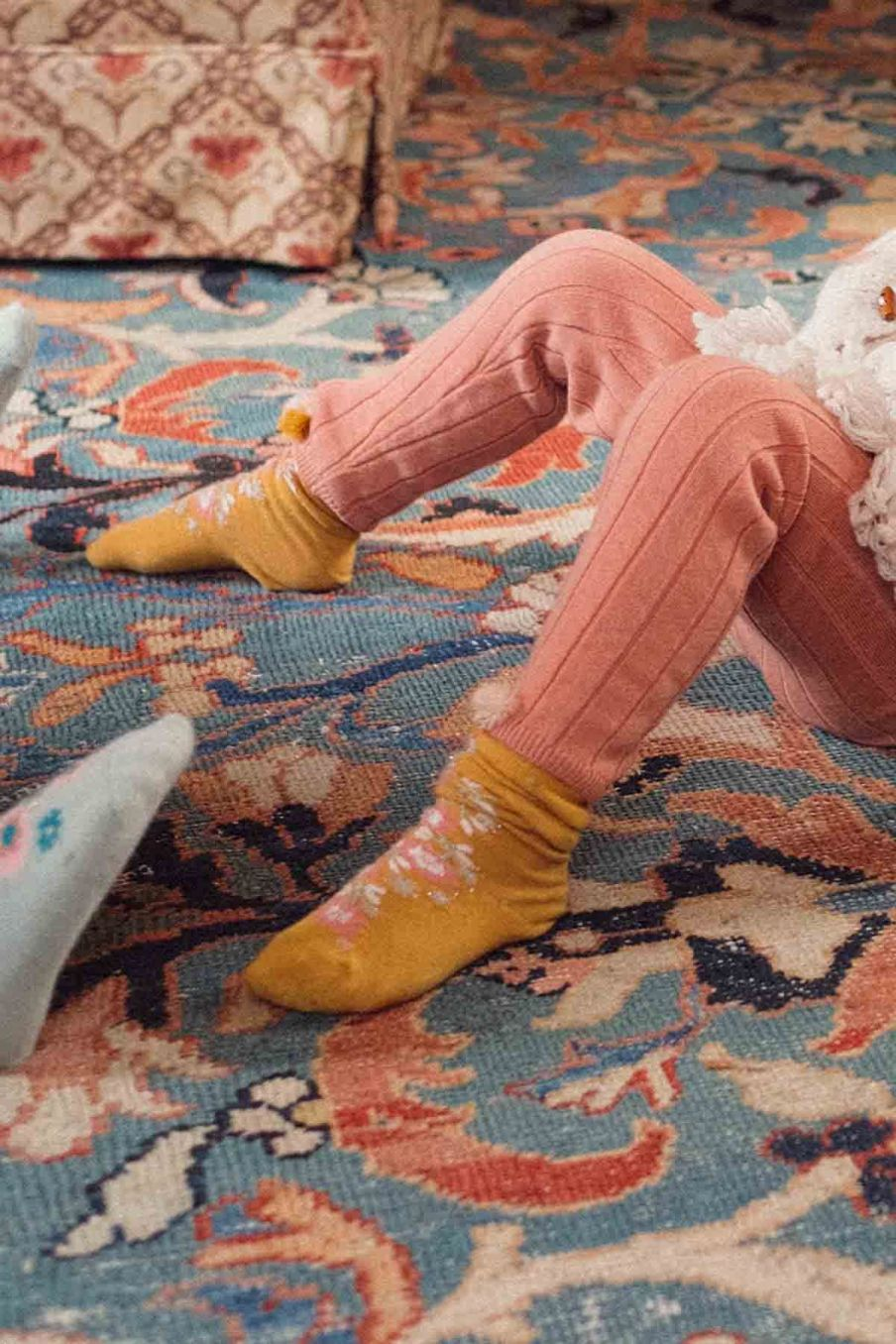 chaussettes bebe fille chelie mustard - louise misha
