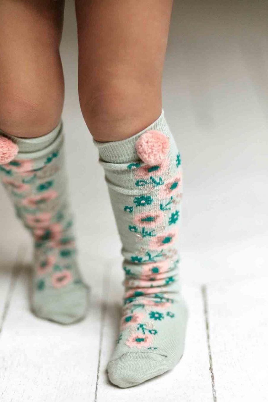 chaussettes bebe fille chelie sauge - louise misha