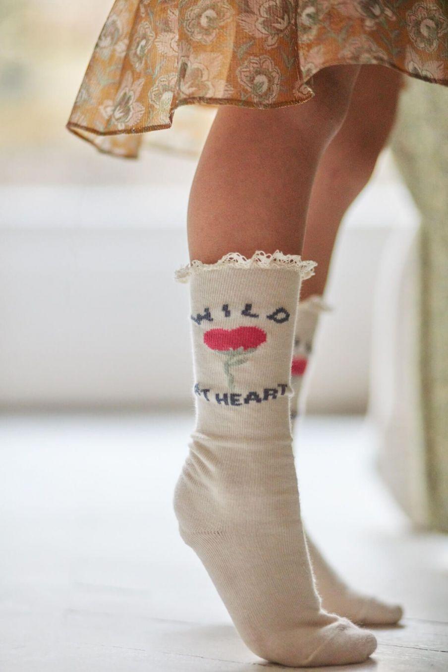chaussettes bebe fille chopie cream - louise misha
