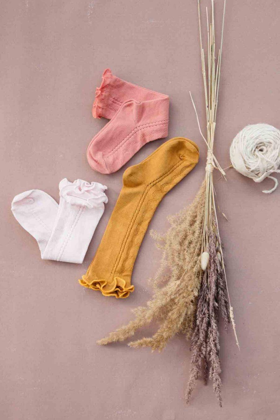 chaussettes bebe fille chilou blush - louise misha