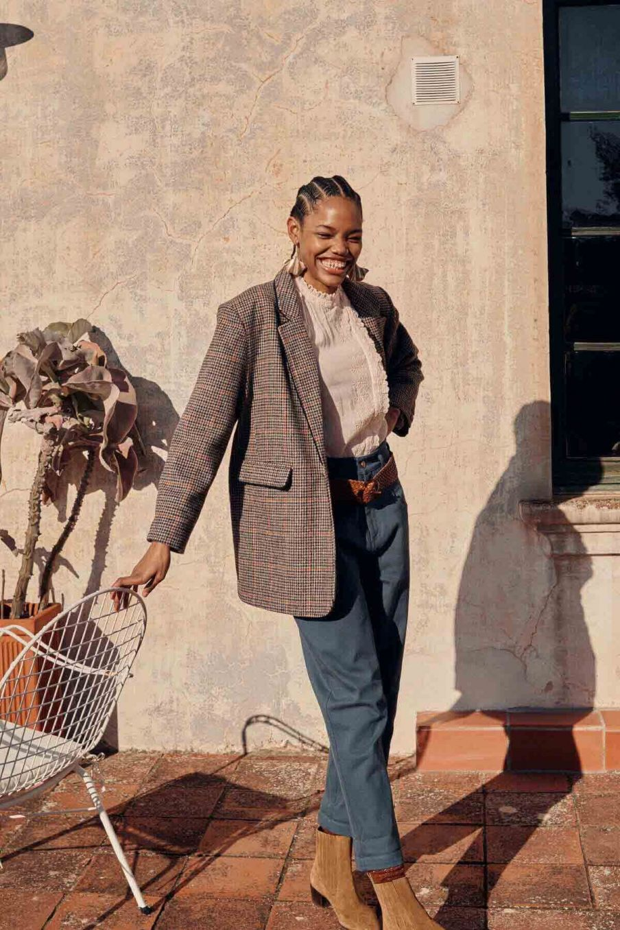 veste femme hanoi nuts check - louise misha