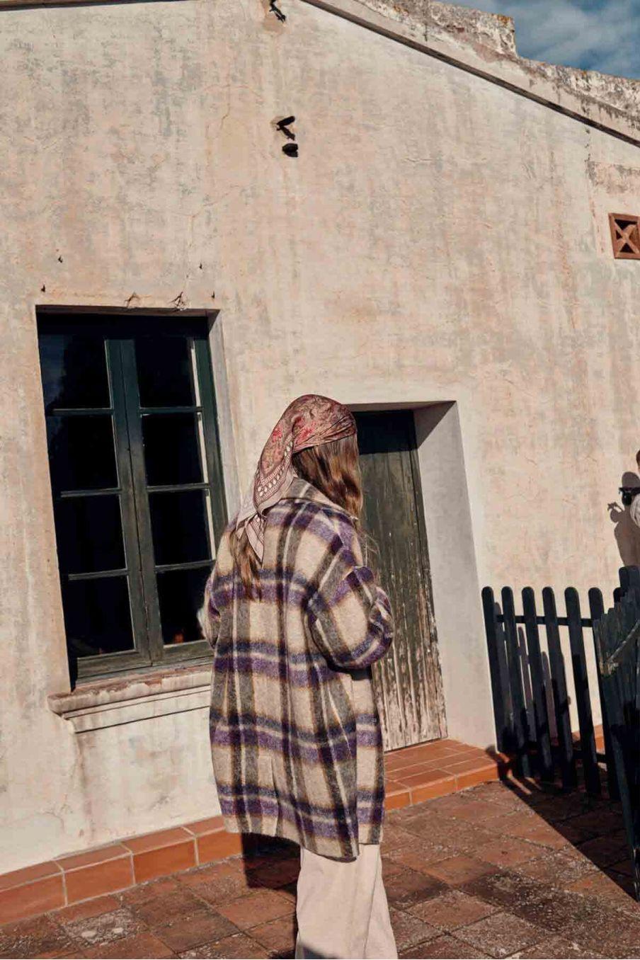 manteau femme morland parma check - louise misha
